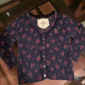 navy button down sweater/cardigan abercrombie